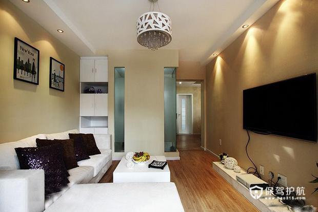 现代简约二居室 温润轻盈生活 二居室装修,70平米装修,富裕型装修,简约风格,客厅,沙发,茶几,吊顶