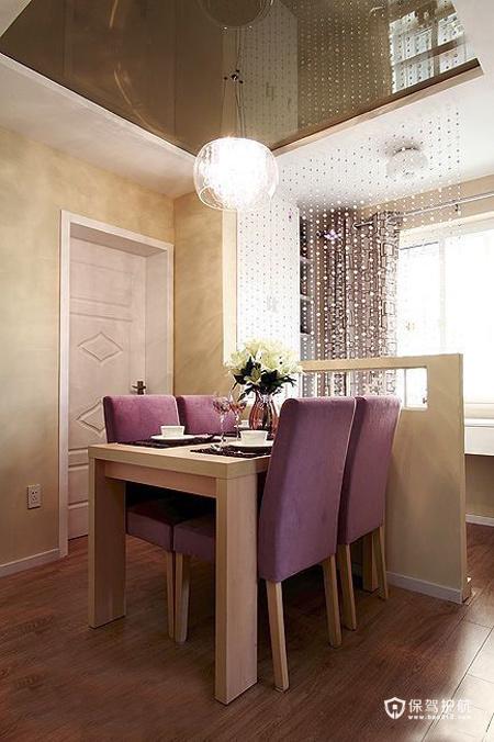 现代简约二居室 温润轻盈生活 二居室装修,70平米装修,富裕型装修,简约风格,餐厅,餐桌,吊顶