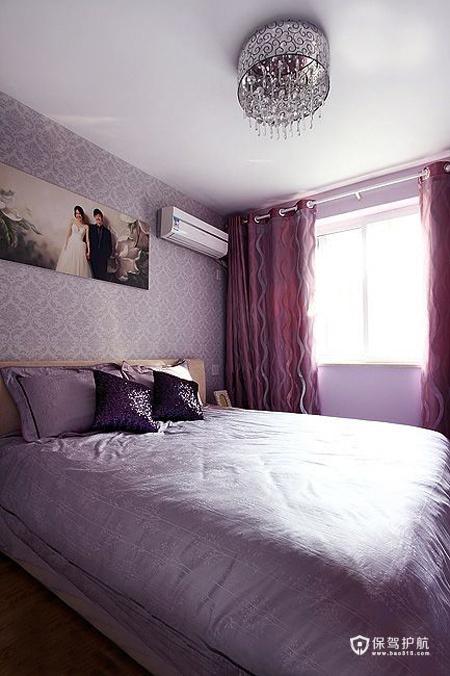 现代简约二居室 温润轻盈生活 二居室装修,70平米装修,富裕型装修,简约风格,卧室,床,卧室背景墙