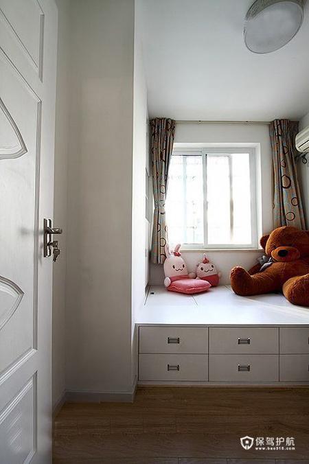 现代简约二居室 温润轻盈生活 二居室装修,70平米装修,富裕型装修,简约风格,书房,地台
