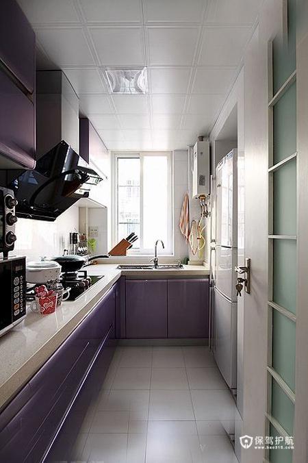 现代简约二居室 温润轻盈生活 二居室装修,70平米装修,富裕型装修,简约风格,厨房,橱柜