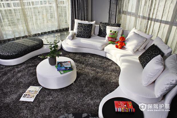 别致客厅沙发装 清新宜人三居室