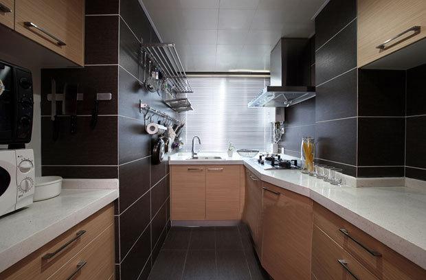 110平简约二居室厨房橱柜装修效果图…