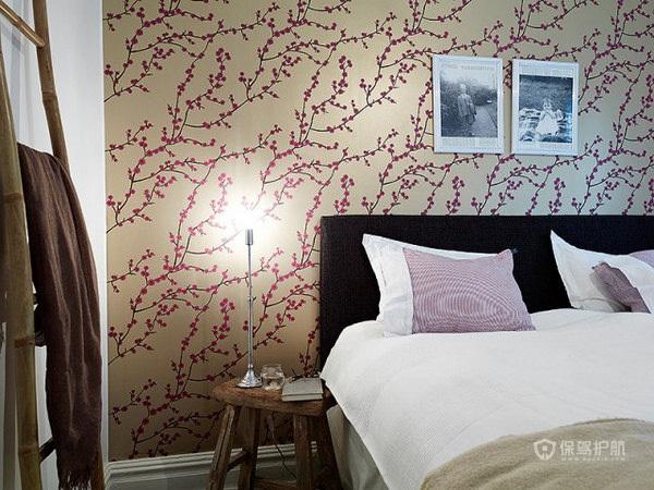 78平现代风格卧室壁纸装修效果图