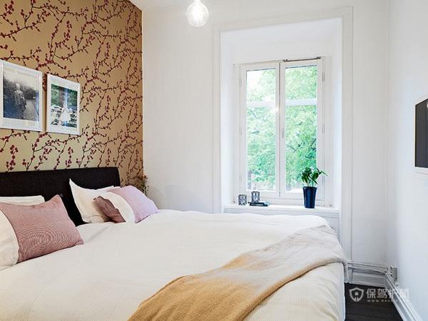 78平清新简欧风二居室卧室装修效果图