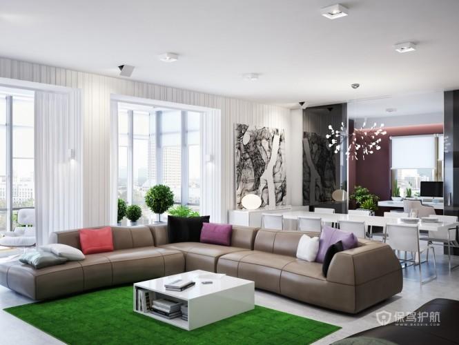 乌克兰风情 300平简约现代公寓