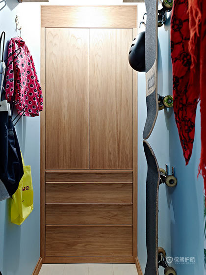 小资三口之家 66平北欧二居室 北欧风格,60平米装修,二居室装修,储藏室