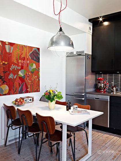 现代风格复式楼餐厅装饰画软装效果图
