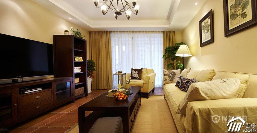 100平新房美式三居室客厅装修效果图