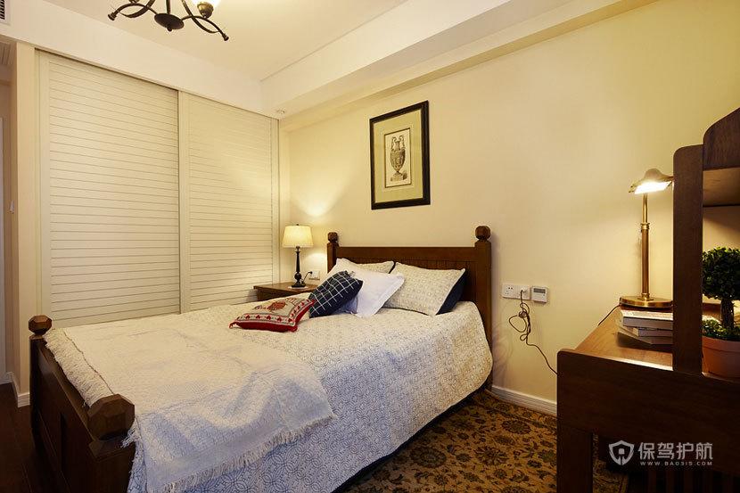 100平新房美式三居室卧室装修效果图