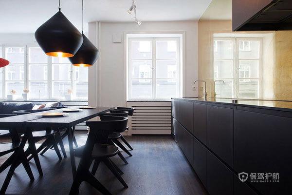 西班牙风格三室两厅40平米客厅创意灯具软装效果图