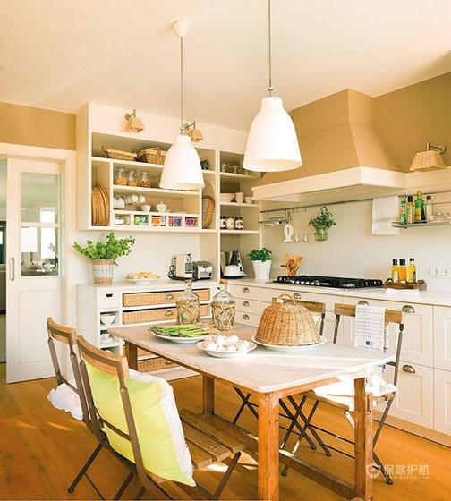 温馨绿色田园风公寓厨房厨房装修效果图