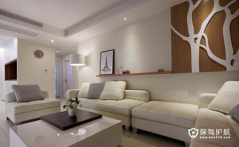 走进白色空间 120平现代三室两厅