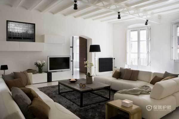 130平西班牙现代混搭公寓客厅装修效果图