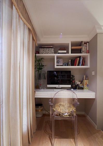 欧式风格四室一厅20平米阁楼书房简装…
