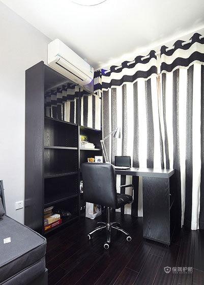 后现代风格两室一厅10平米书房黑白家装效果图