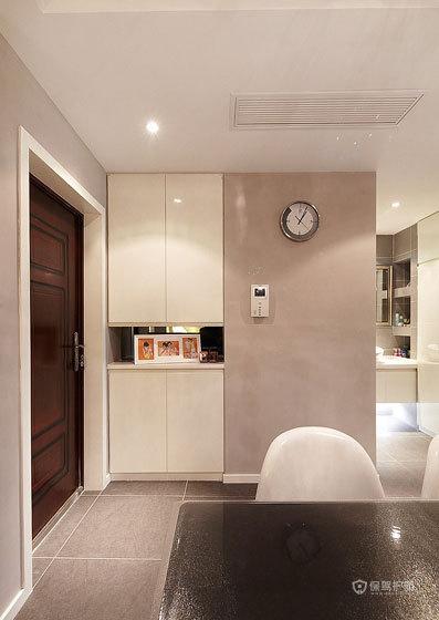 现代简约风格二居室玄关鞋柜装修效果图