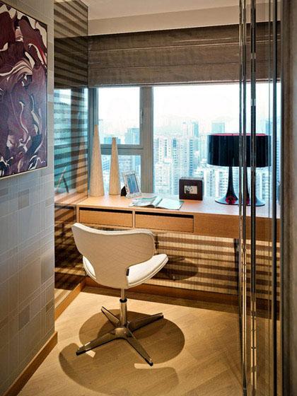 現代風格兩室一廳公寓5平米書房飄窗…
