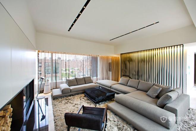 霸气十足 纽约现代顶层公寓设计
