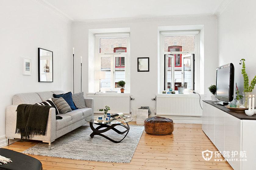 单身白领的阳光美家 白色简约一居室