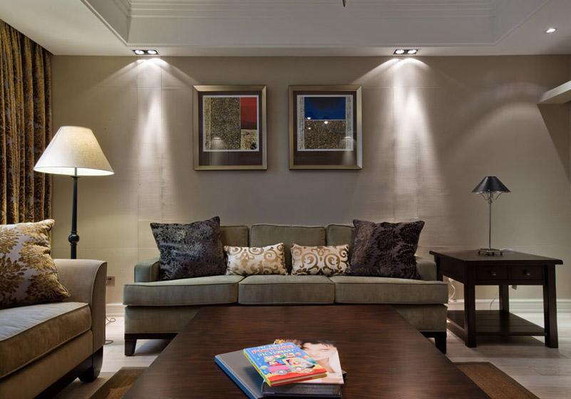 简洁大方与时尚的简约客厅装修效果图