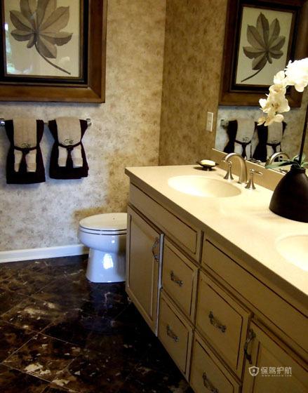 豪华美式公寓卫生间装修效果图