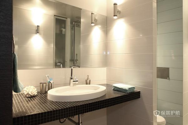 简约风一居室卫生间干湿分离装修效果图