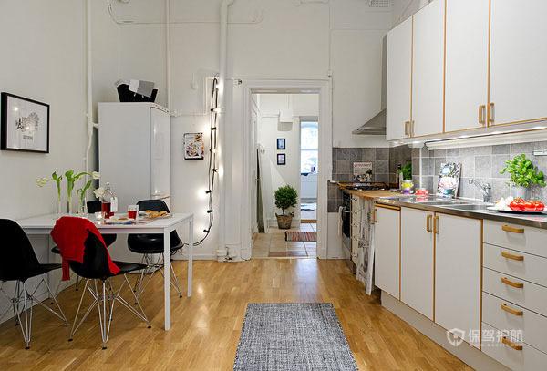 50平简欧公寓大厨房装修效果图