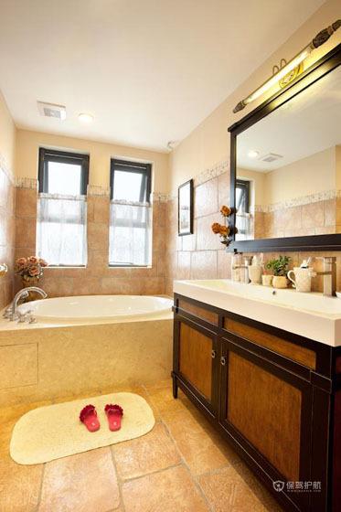 古典混搭风公寓卫生间装修效果图