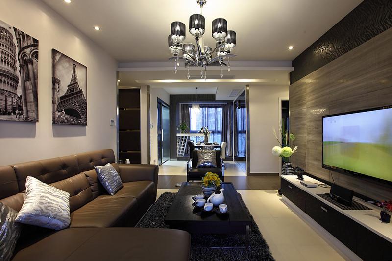 哥特式风格四室一厅30平米客厅艺术装…