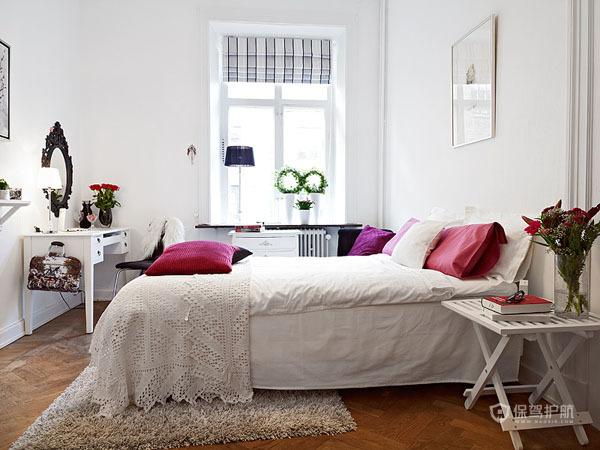 简欧风明亮二居室公寓次卧装修效果图