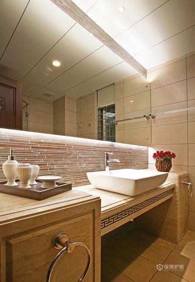 米兰风格四室一厅大户型10平米卫生间浴室柜效果图