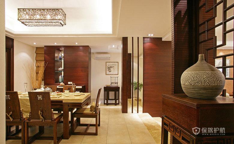 中式风格别墅50平餐厅软装搭配效果图