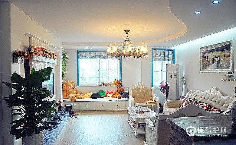白蓝色的纯净 老房翻新温情地中海