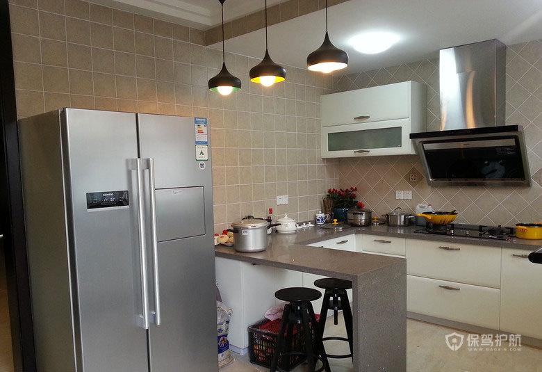 混搭风格跃层厨房装修效果图