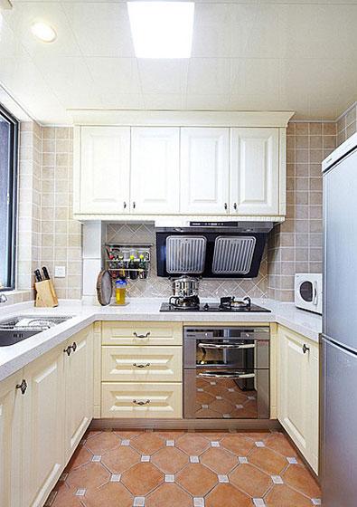 清新地中海二居室厨房瓷砖装修效果图…