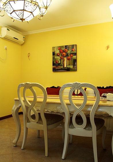 意大利風格三室一廳40平餐廳裝修效果…