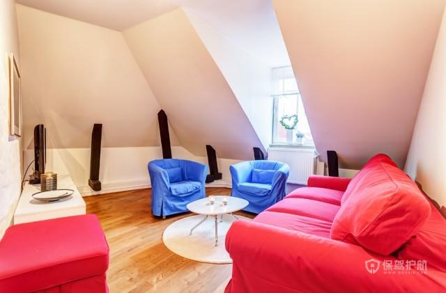 紧凑布局 北欧风165平阁楼公寓 北欧风格,大户型,阁楼,公寓装修,