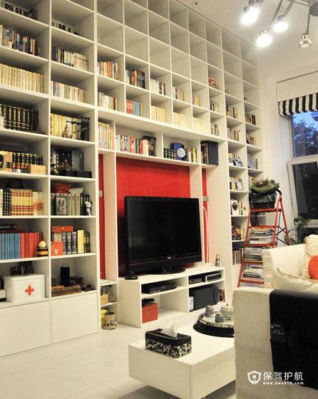 顶天立地大书柜 藏书控的loft简约家
