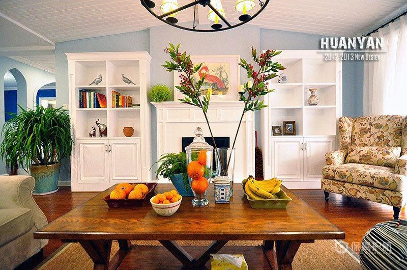 五彩斑斓三居室 超炫丽的地中海美家