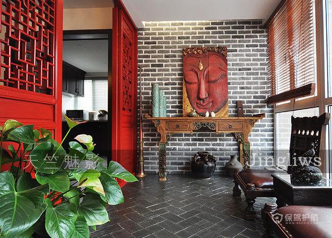280平异域风情别墅 新中式东南亚艳丽混搭