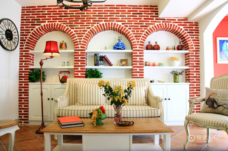 红砖碧瓦之家 地中海风情温暖两居