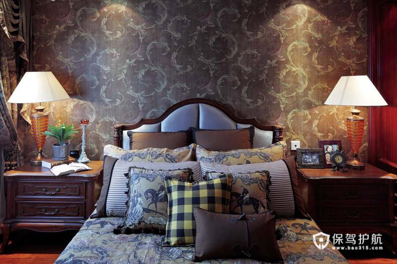 西安鸿基紫韵别墅 地中海风情奢华装饰 地中海风格,别墅装修,富裕型装修,壁纸,灯具,台灯