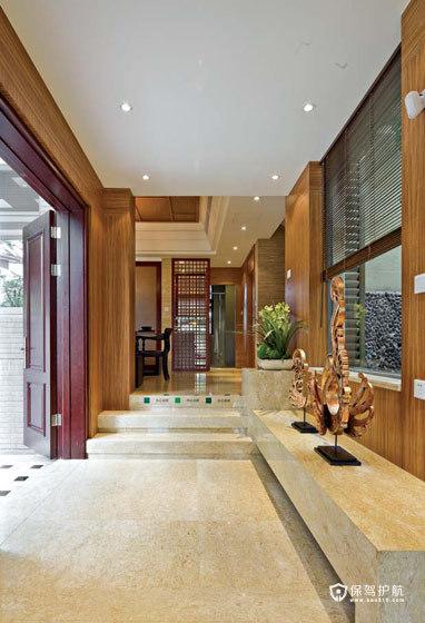 招商金山谷别墅 奢华东南亚风情 东南亚风格,别墅装修,豪华型装修,玄关