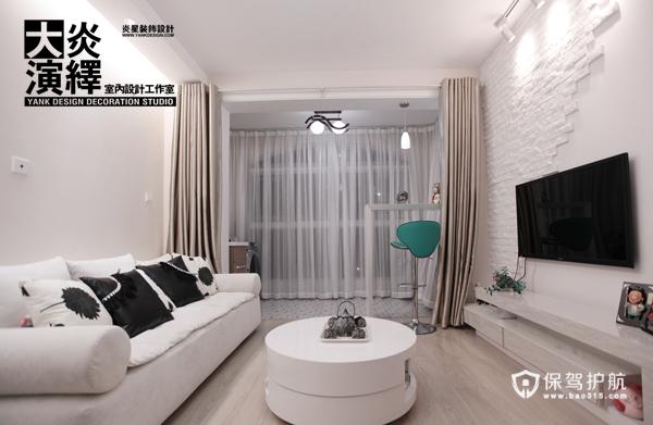 纯洁无暇的家 北欧风白色系一居室