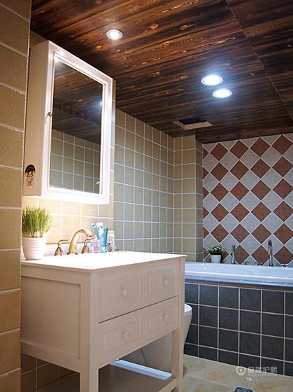 54平loft地中海一居室卫生间吊顶装修效果图