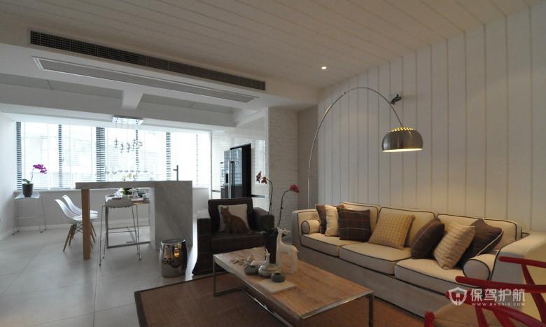 135平简约风二居室客厅装修效果图