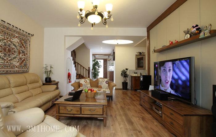 140平東南亞風情復式客廳裝修效果圖…