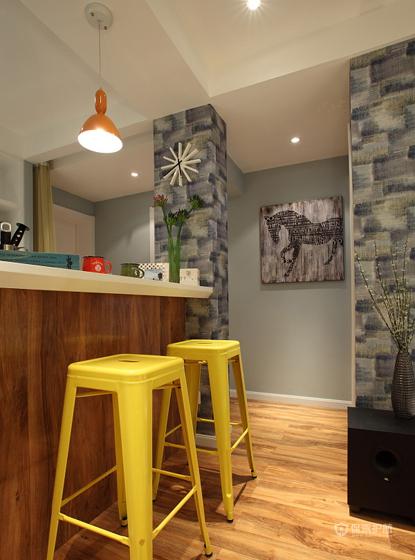 混搭二居室厨房吧台隔断装修效果图