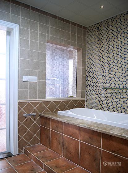 地中海美式混搭复式卫生间装修效果图